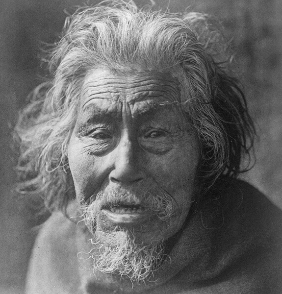 Old picture of a Nuu-chah-nulth (Nootka) elder