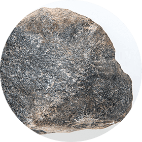 Photograph of a round hammerstone