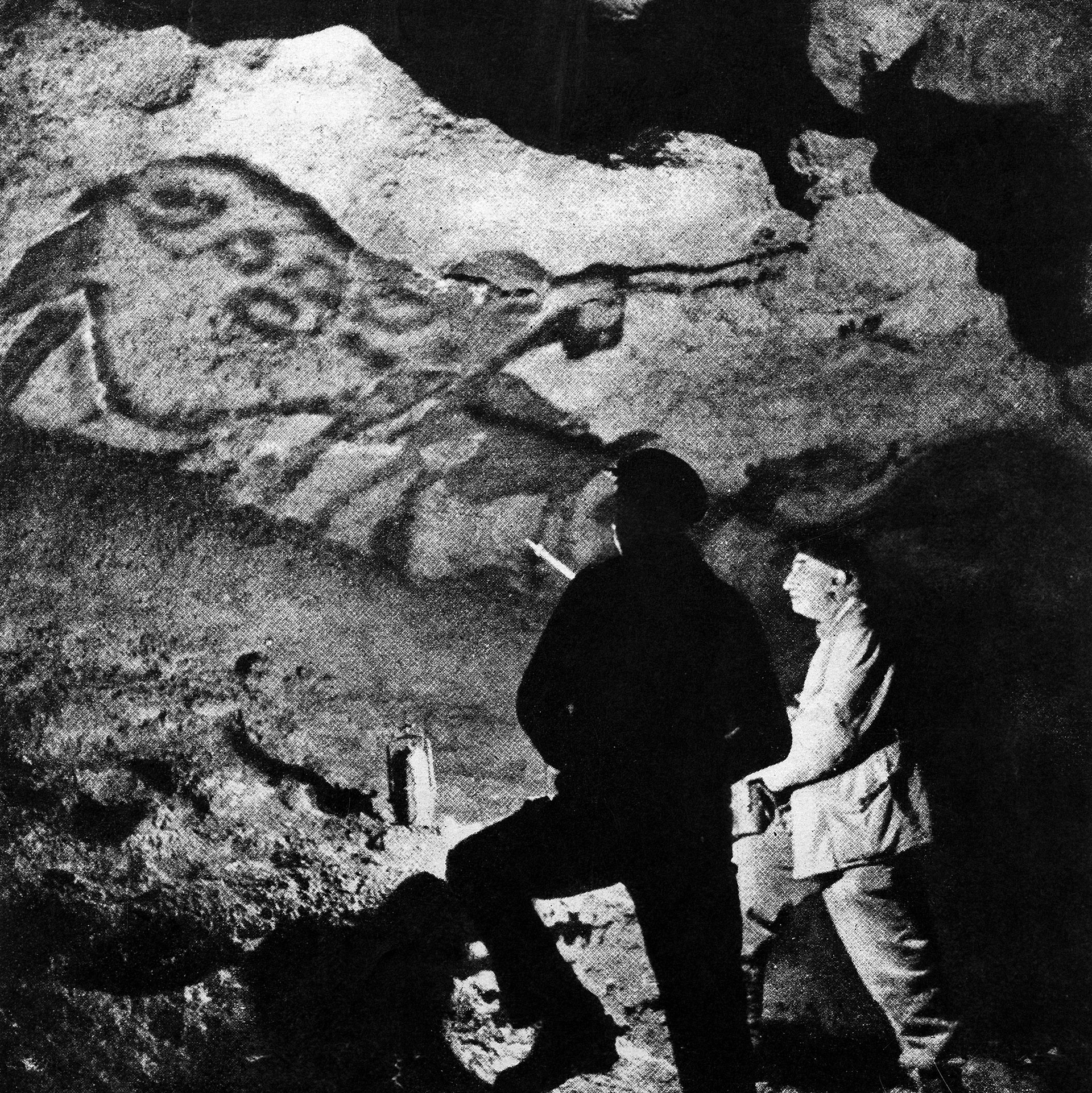Picture of French archaeologist Abbé Breuil. He was known as the authority on rock art sites in Europe and Africa.