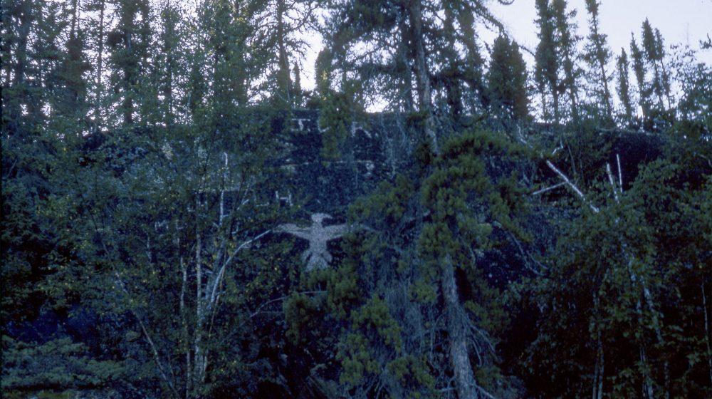 Photograph of a Thunderbird depicted at Reindeer Lake in Saskatchewan.